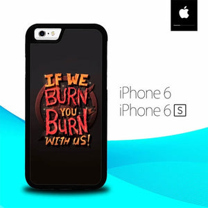Quotes of Hunger Games O0957 fundas iPhone 6, iPhone 6S