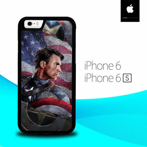Captain America Sheild O1295 fundas iPhone 6, iPhone 6S