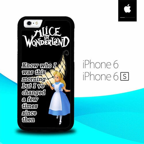 Alice In Wonderland Quote O3109 fundas iPhone 6, iPhone 6S