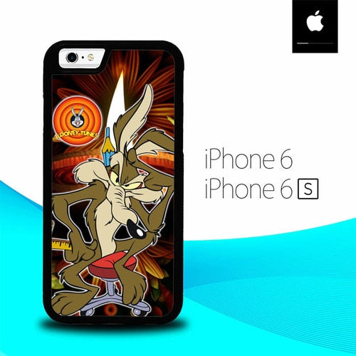 Wile E Coyote Falling Off Cliff Looney Tunes O3142 fundas iPhone 6, iPhone 6S