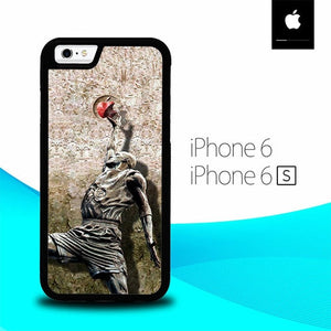 Michael jordan slam dunk carbonite O3263 fundas iPhone 6, iPhone 6S