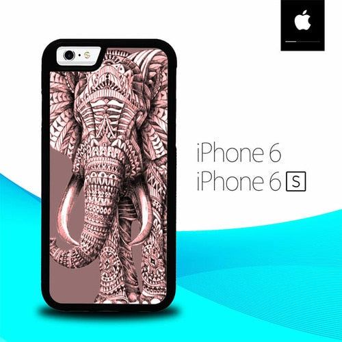 Aztec Elephants O3385 fundas iPhone 6, iPhone 6S