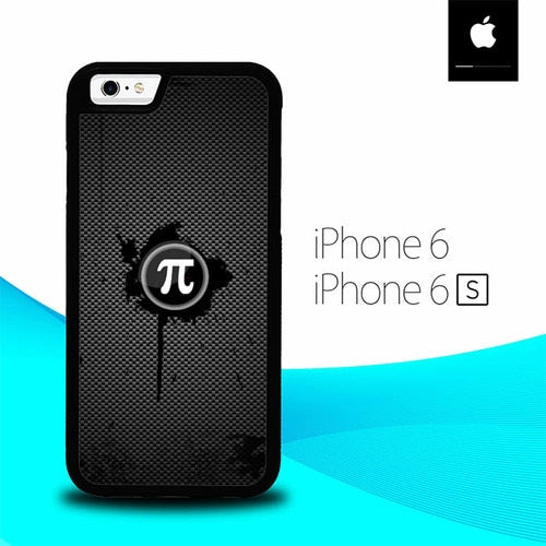Fiber Carbon Pi Day Logo O4013 fundas iPhone 6, iPhone 6S