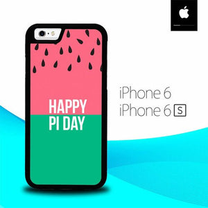 Happy Pi Day Watermelon Pattern O4024 fundas iPhone 6, iPhone 6S