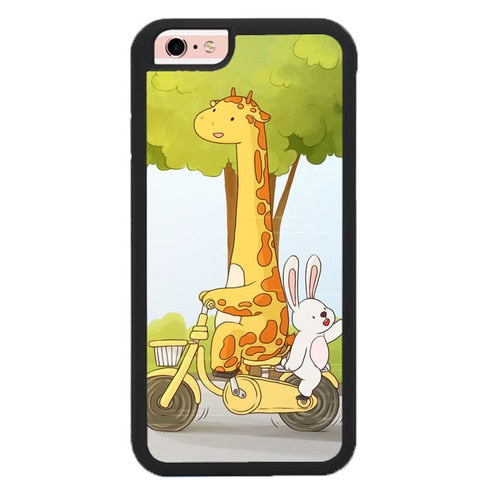 The sweetness of giraffes and rabbits O7454 fundas iPhone 6, iPhone 6S