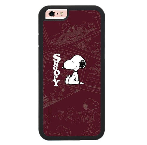 Snoopy in Comic O7459 fundas iPhone 6, iPhone 6S