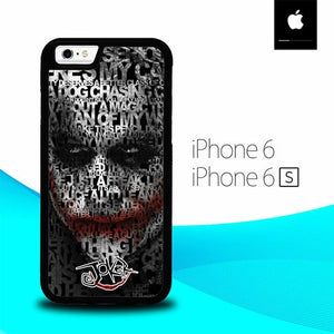 Joker Typography Quotes O7617 fundas iPhone 6, iPhone 6S