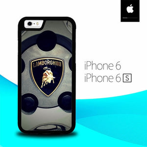 lamborghini wheels logo O7646 fundas iPhone 6, iPhone 6S