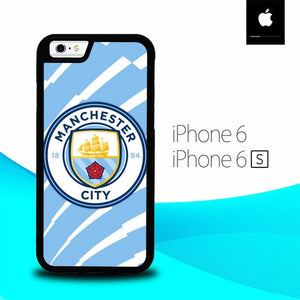 Manchester city Logo O7678 fundas iPhone 6, iPhone 6S