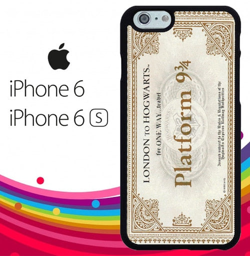 Harry Potter Ticket fundas iPhone 6, iPhone 6S