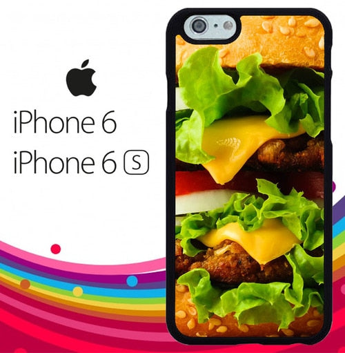 Cheese Burger Z0715 fundas iPhone 6, iPhone 6S