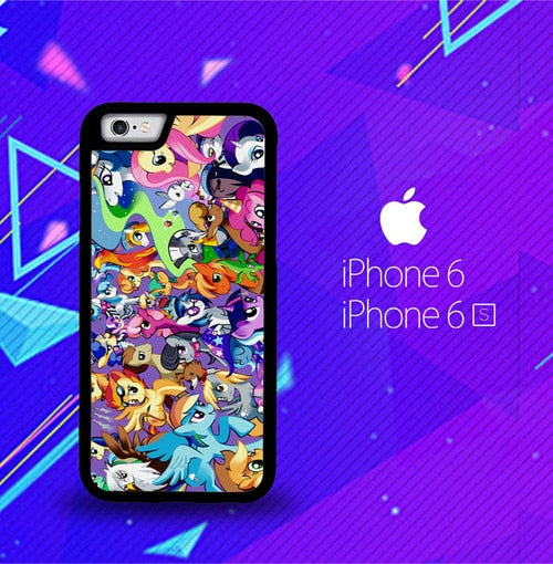 MY LITTLE PONY COLLAGE Z1359 fundas iPhone 6, iPhone 6S