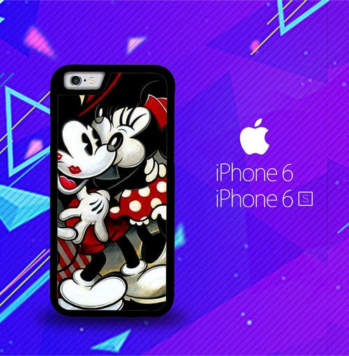 Hugs and Kisses  Mickey Minnie mouse Z1557 fundas iPhone 6, iPhone 6S