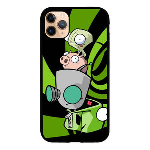 coque custodia cover case fundas hoesjes iphone 11 pro max 5 6 6s 7 8 plus x xs xr se2020 pas cher X8959 gir invader zim Z2666