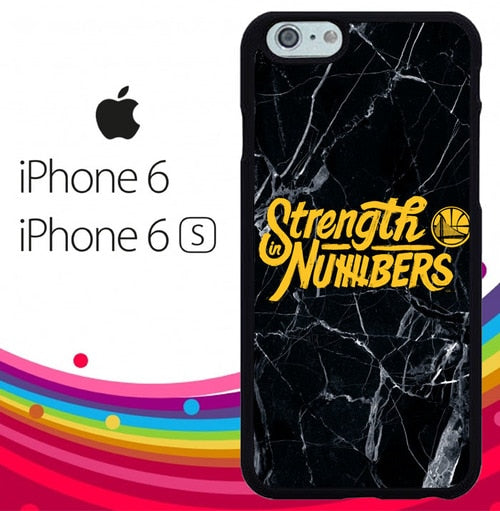 Strength In Numbers golden state warrior Z4827 fundas iPhone 6, iPhone 6S