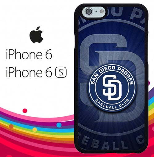 san diego padres logo Z5017 fundas iPhone 6, iPhone 6S