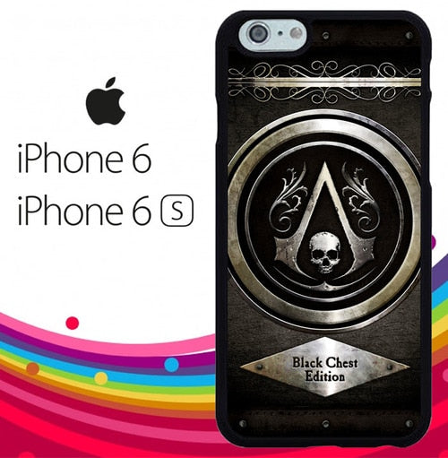 Assassins Creed Black Flag Logo Z5400 fundas iPhone 6, iPhone 6S