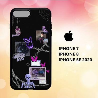 fundas iphone 5 6 7 8 plus x xs xr case N1615 emo wallpaper iphone 81tK0