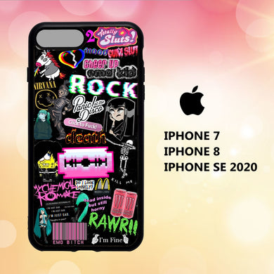fundas iphone 5 6 7 8 plus x xs xr case V5654 emo wallpaper iphone 81pN9