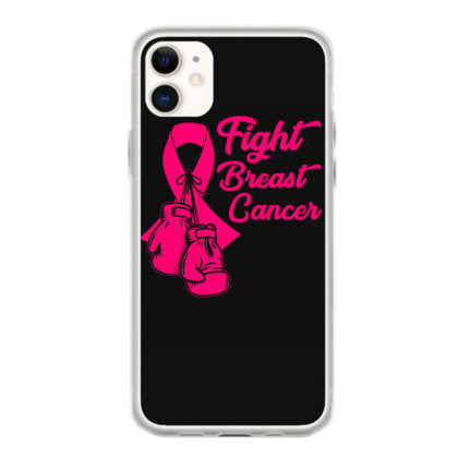 fight breast cancer pink ribbon tshirt fundas iphone 11