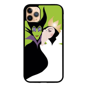 coque custodia cover case fundas hoesjes iphone 11 pro max 5 6 6s 7 8 plus x xs xr se2020 pas cher X8836 Evil Queen and Maleficent X4713