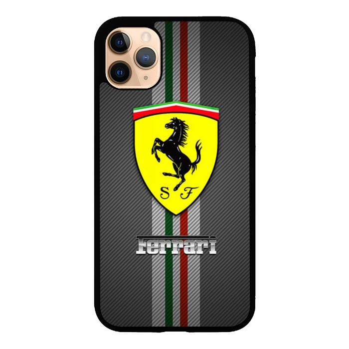 coque custodia cover case fundas hoesjes iphone 11 pro max 5 6 6s 7 8 plus x xs xr se2020 pas cher X8866 ferrari logo X4861