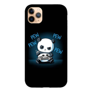 coque custodia cover case fundas hoesjes iphone 11 pro max 5 6 6s 7 8 plus x xs xr se2020 pas cher X8942 Funky Panda X4890