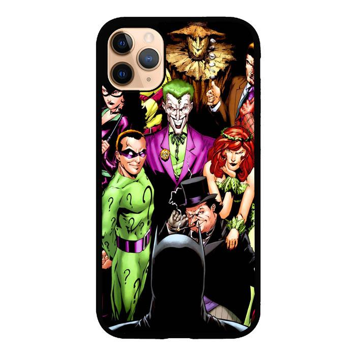 coque custodia cover case fundas hoesjes iphone 11 pro max 5 6 6s 7 8 plus x xs xr se2020 pas cher X8415 Batman Villains X4951