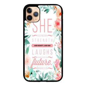 coque custodia cover case fundas hoesjes iphone 11 pro max 5 6 6s 7 8 plus x xs xr se2020 pas cher X8444 Biblical Proverb X5670