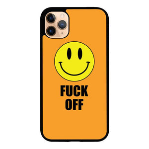 coque custodia cover case fundas hoesjes iphone 11 pro max 5 6 6s 7 8 plus x xs xr se2020 pas cher X8936 Fuck Off Smiley X5668