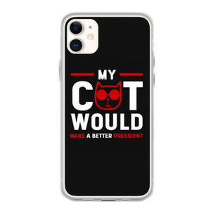 funny cat president anti trump gift political fundas iphone 11