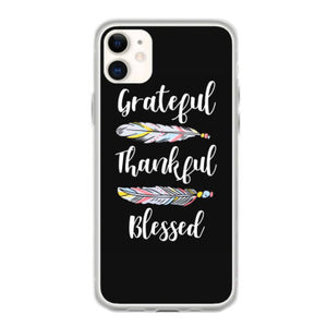 grateful thankful blessed t shirt fundas iphone 11