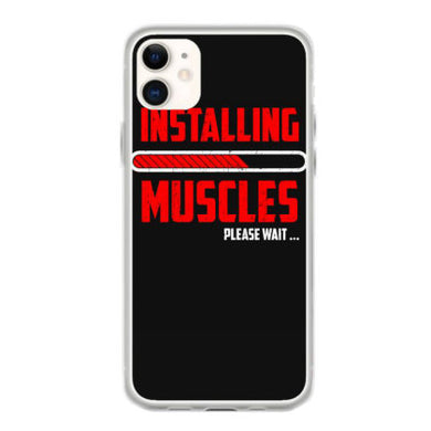 installling muscles please wait t shirt fundas iphone 11