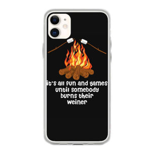 its all fun and games until somebody burns their weiner t shirt fundas iphone 11