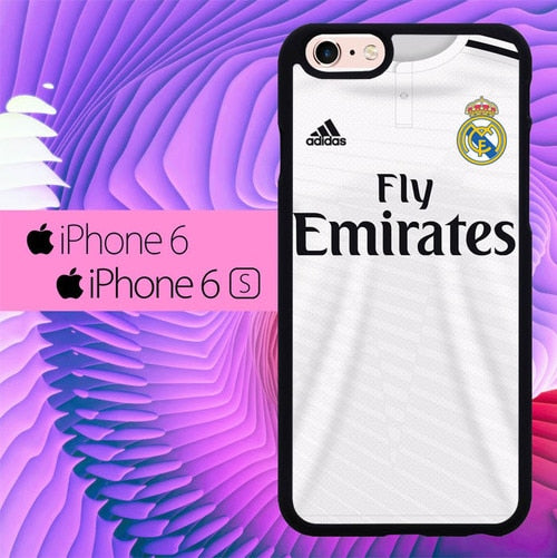 Real Madrid Tshirt L0244 fundas iPhone 6, iPhone 6S