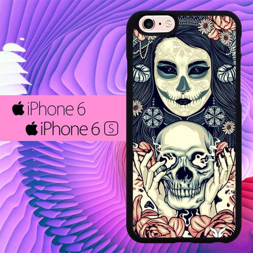 Smooking Skull L0260 fundas iPhone 6, iPhone 6S