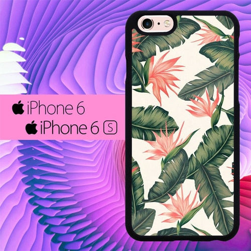 Tropical Flower L0284 fundas iPhone 6, iPhone 6S