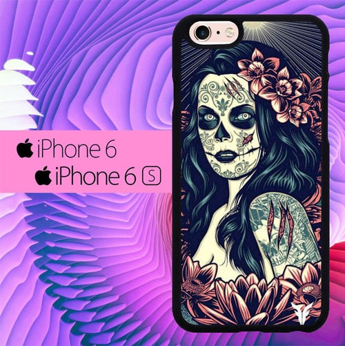 Woman Tattoes L0299 fundas iPhone 6, iPhone 6S