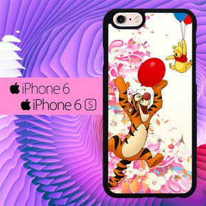 tiger and winnie the pooh balloons L0385a fundas iPhone 6, iPhone 6S