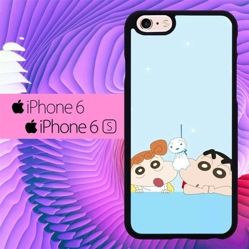 Sinchan And Hima L0424 fundas iPhone 6, iPhone 6S