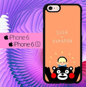 Suga X Kumamon L0439 fundas iPhone 6, iPhone 6S