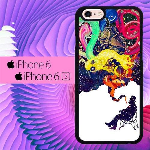 Smooking Astronout L0566 fundas iPhone 6, iPhone 6S