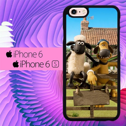 Shaun The Sheep And Friend L0645 fundas iPhone 6, iPhone 6S