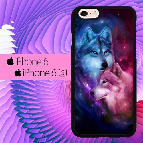 Wolf Painting L0655 fundas iPhone 6, iPhone 6S
