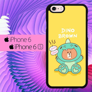 Dino Brown L0716 fundas iPhone 6, iPhone 6S