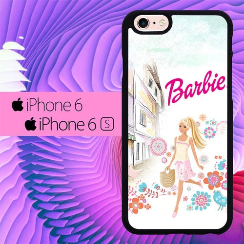 barbie travelling city L1073 fundas iPhone 6, iPhone 6S