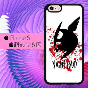 Akame ga Kill Night Raid L1173 fundas iPhone 6, iPhone 6S
