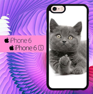 Finger British Shorthair Cat L1412 fundas iPhone 6, iPhone 6S