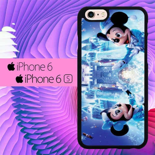 Disney Chrismast Mickey and Minnie Mouse L1567 fundas iPhone 6, iPhone 6S