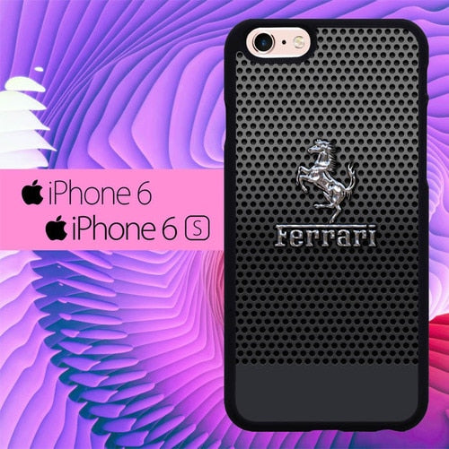 Ferrari Chrome Logo L1816 fundas iPhone 6, iPhone 6S